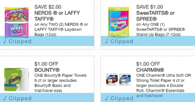 Clip Coupons online