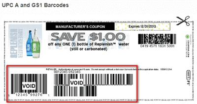 UPC A and GS1 Barcodes
