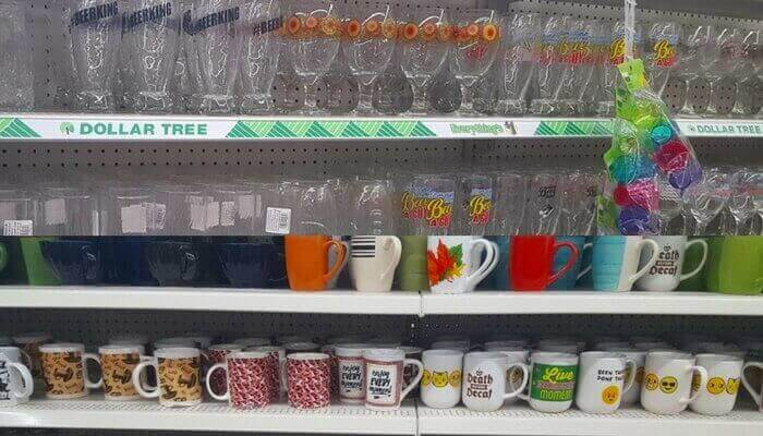Glasses and Mugs for a Dollar