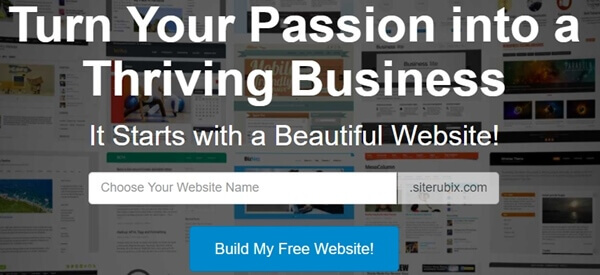 build a free website in